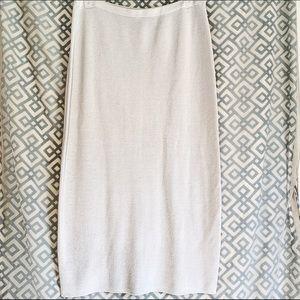 Eileen Fisher Maxi Knit White Skirt Women Large